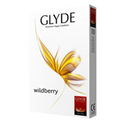 "Veganski kondomi ""Glyde 10 Wildberry"""